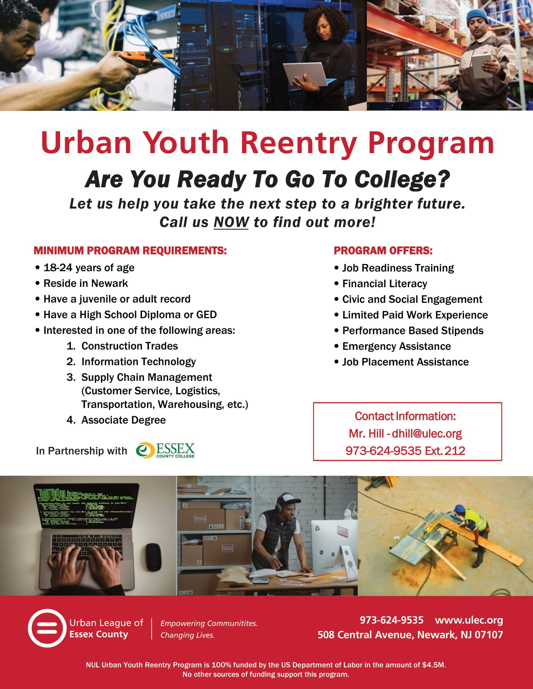 Urban League of Essex County Youth Rentry Progam Flyer_vr4-1